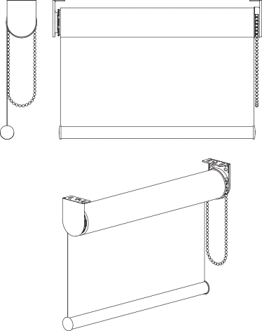 SP45 Roller Blind Technical Drawing