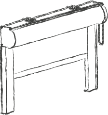 Illustration of Total Block Roller Blind